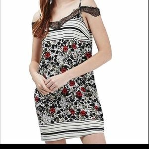 NEW TopShop Red Black and White Tose Dress